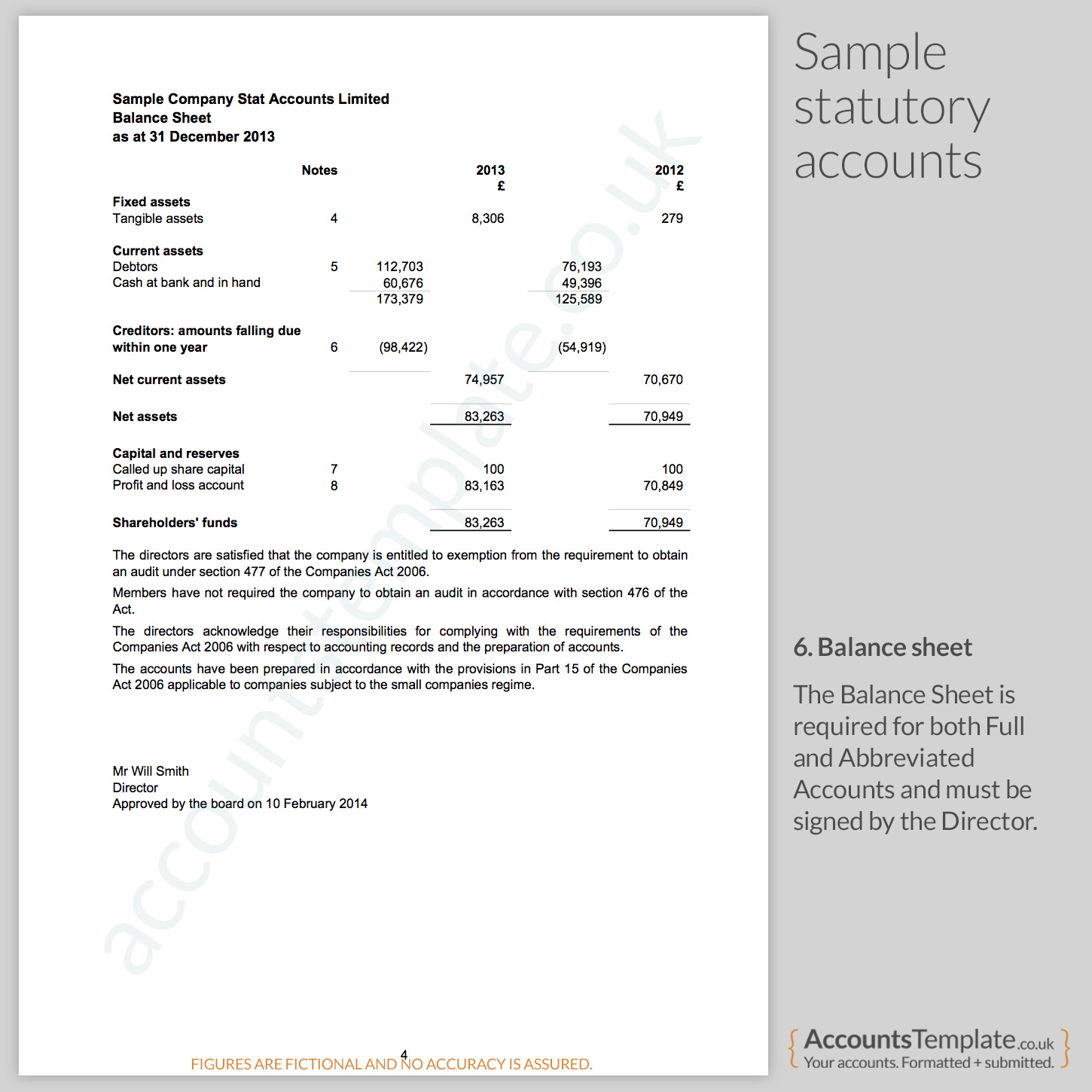 A guide to the statutory accounts format accounts template for Year end balance sheet template
