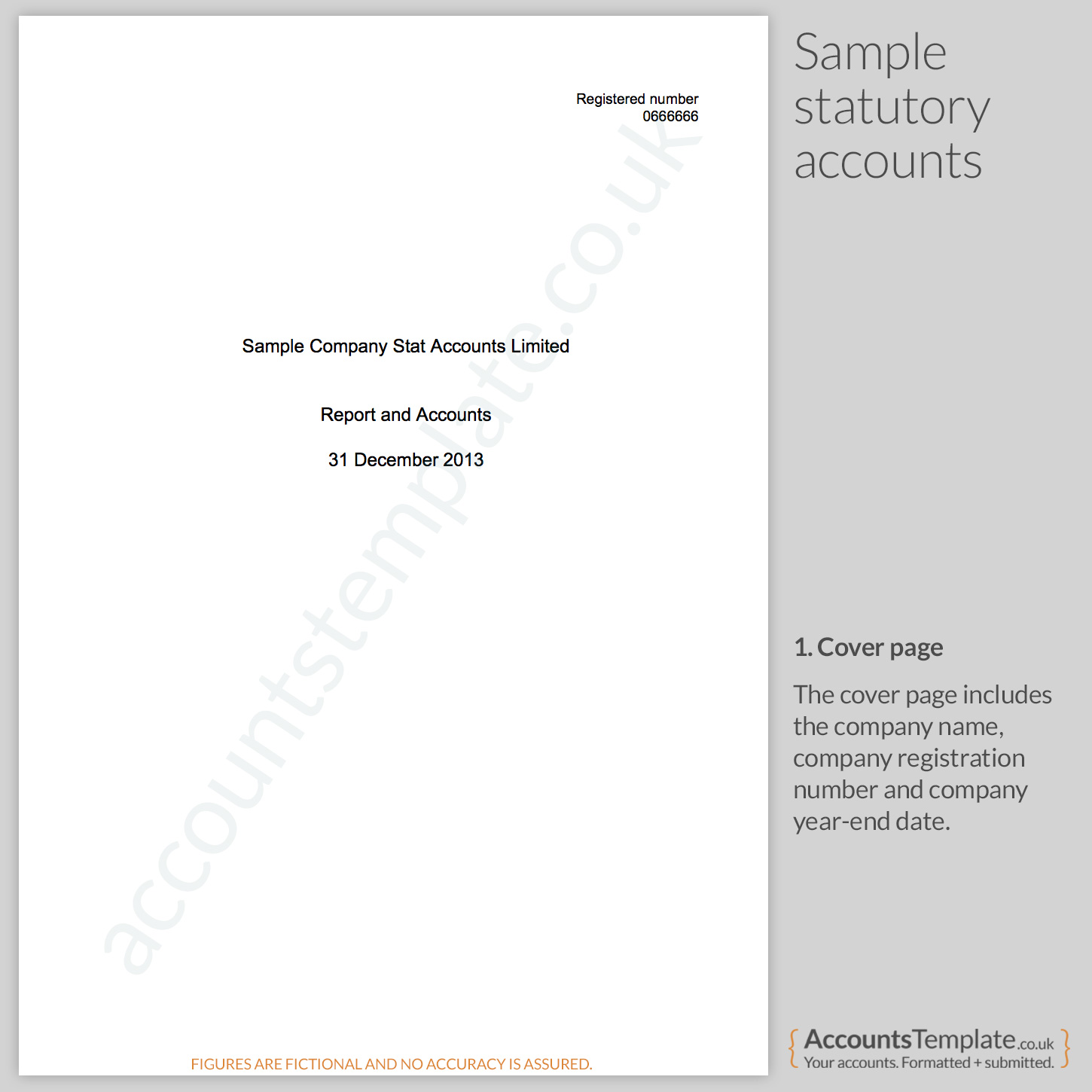 a guide to the statutory accounts format accounts template cover page